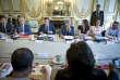 Emmanuel Macron, président de la République, et Jean-Louis Borloo participent au conseil présidentiel des villes, mardi 22 mai 2018 - 2018©Jean-Claude Coutausse / french-politics pour Le Monde