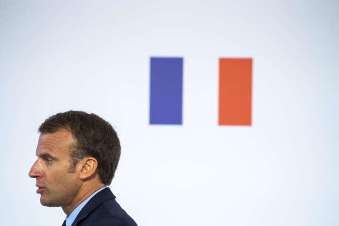 Emmanuel Macron, à l'Elysée, à Paris, mardi 22 mai 2018.