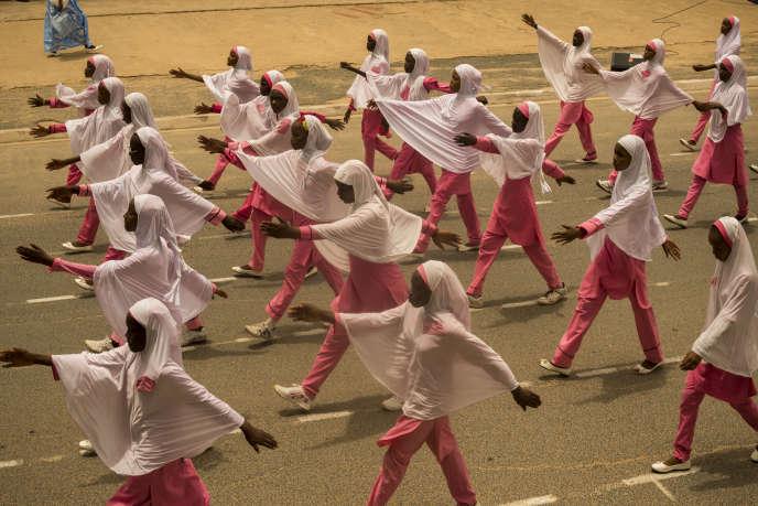 Défilé de la fête nationale, à Maroua, dans le nord du Cameroun, le 20mai 2018.
