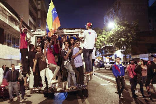 Célébration de la victoire de Nicolas Maduro, le 20 mai à Caracas.
