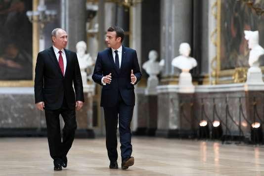 """Résultat de recherche d'images pour """"Poutine et Macron"""""""