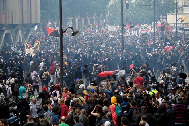Manifestation pour la défense de la fonction publique, le 22 mai 2018.