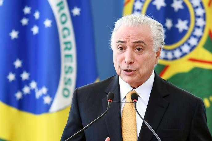 Michel Temer, à Brasilia, au Brésil, le 22 mai.