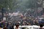 «La révolution a changé de sens : ce qui animait les étudiants et les ouvriers il y a cinquante ans anime aujourd'hui ceux qui prétendent, partout dans le monde, revenir à l'état national et à l'identité ethnique» (Manifestation contre la politique d'Emmanuel Macron, le 22 mai à Paris).