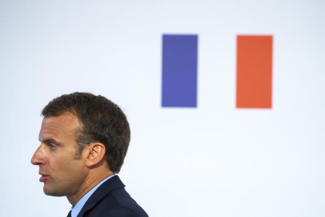 Emmanuel Macron, à l'Elysée, le 22 mai.