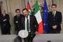 Le leader du parti d'extrême droite la Ligue, Matteo Salvini, au palais présidentiel du Quirinal, à Rome, le 21 mai.