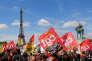 Manifestation contre la réforme de la SNCF, à Paris, le 3 mai.