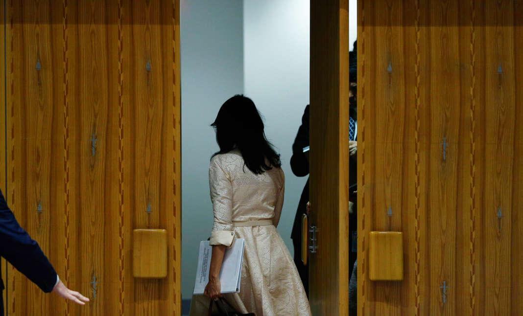 Le 15 mai, Nikki Haley a ostensiblement quitté la réunion de l'ONU au moment de l'intervention du représentant de la Palestine.