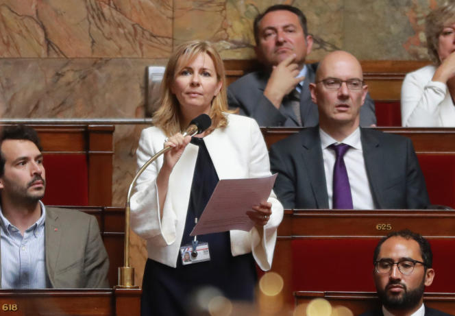 La députée de la Meuse Emilie Cariou, à l'Assemblée nationale, le 26 juillet 2017.