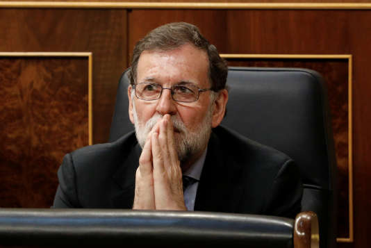 Le premier ministre espagnol, Mariano Rajoy, au Parlement, à Madrid, le 23 mai.