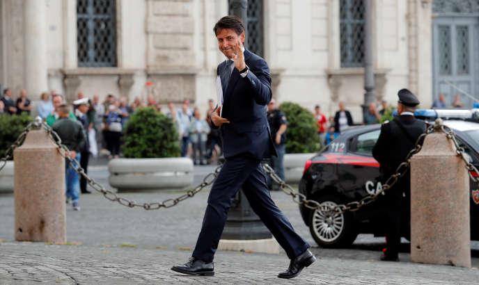 Giuseppe Conte a rencontré le président Sergio Mattarella, au palais du Quirinal àRome, le 23 mai.