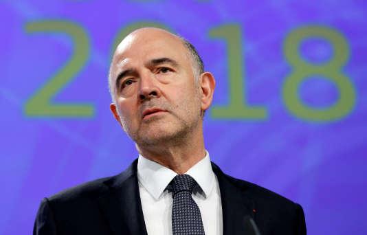 Le commissaire européen chargé des affaires économiques et de la fiscalité, Pierre Moscovici, à Bruxelles, le 23 mai.