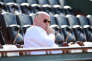Bernard Giudicelli, le président de la FFT, dans les tribunes de Roland-Garros, le 29 mai 2017. (Photo by Dave Winter/Icon Sport)