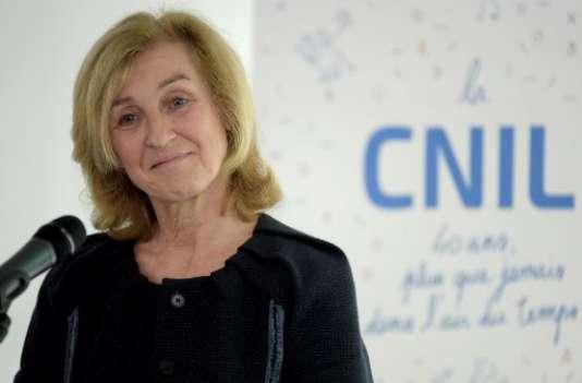 Isabelle Falque-Pierrotin, la présidente de la Commission nationale de l'informatique et des libertés,le 10 avril à Paris.