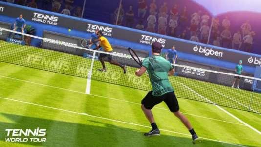«Tennis World Tour», suite spirituelle de«Top Spin4» mais avec un budget bien moindre, souffre de nombreux problèmes de finition.