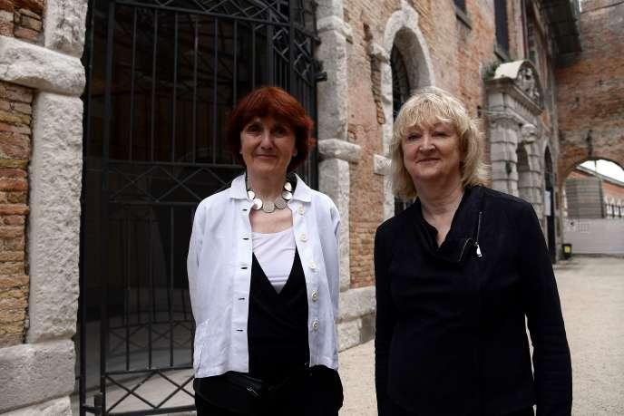 Shelley McNamara et Yvonne Farrell, les commissaires de la 16e édition de la Biennale d'architecture de Venise, le 23 mai 2018.