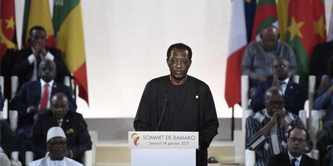 Le président tchadien, Idriss Déby, à Bamako, lors du 27e sommet Afrique-France, le 14janvier 2017.