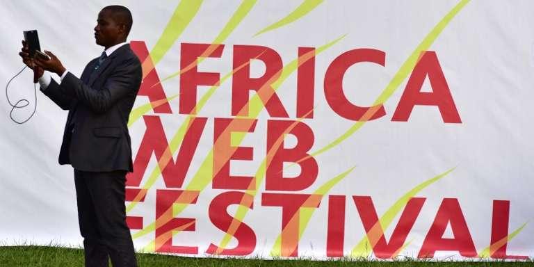A l'Africa Web Festival d'Abidjan, en Côte d'Ivoire, en novembre 2016.