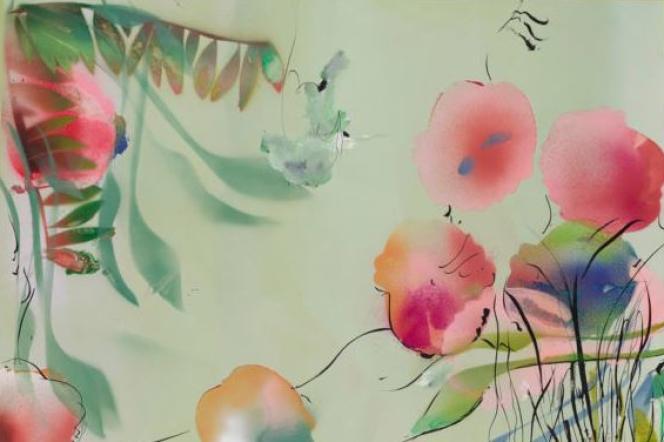 Stéphane Calais (Sans titre, 2017) dans l'exposition collective« Leurs printemps», à la galerie Papillon.