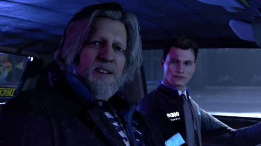 Connor, premier des trois héros de« Detroit», est chargé de faire équipe avec un sosie approximatif d'Alain Chabat.