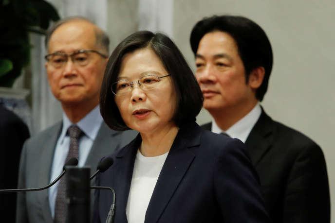 La présidente de Taïwan, Tsai Ing-wen, à Taipei, le 24 mai.