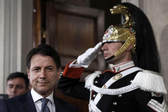 Giuseppe Conte, le nouveau président du conseil italien, à Rome, le 23 mai 2018.