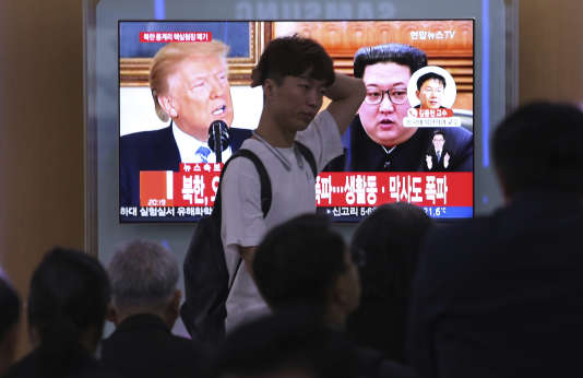 Le président américain, Donald Trump, a annulé jeudi sa rencontre prévue le 12 juin à Singapour avec le dirigeant nord-coréen Kim Jong-un, bien que la Corée du Nord ait tenu sa promesse de mettre hors service son site d'essais nucléaires.