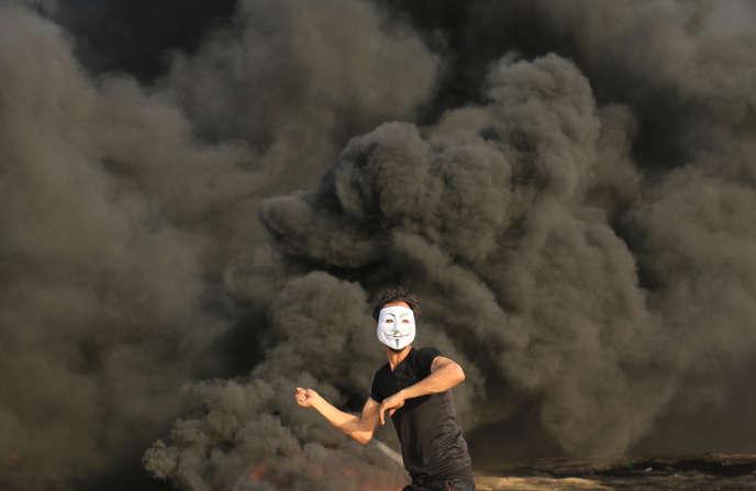 A Gaza, près de la barrière de séparation avec Israël, vendredi 18 mai.