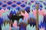«Venice» (2018), peinture vinylique sur toile dans l'exposition«Recto/Verso II».