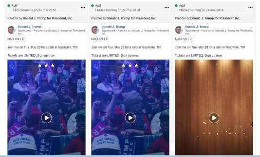 Le moteur de recherche lancé par Facebook permet par exemple de voir les annonces sponsorisées qui concernent Donald Trump.