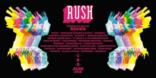 Affiche du festival Rush, au 106, à Rouen.