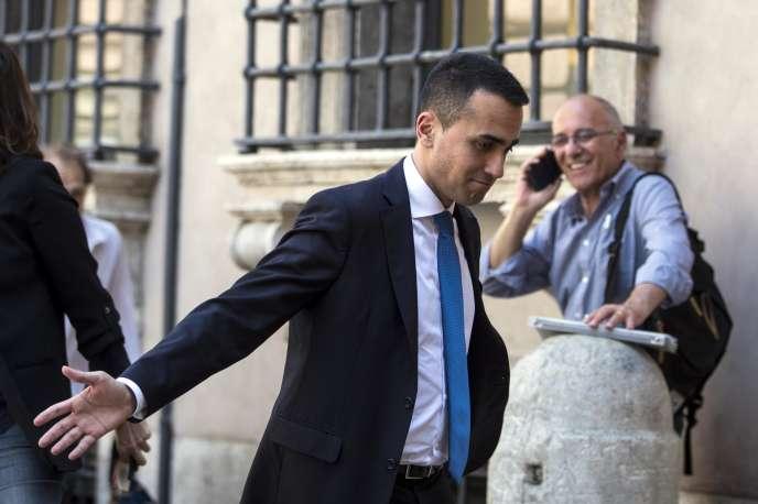 Luigi Di Maio (M5S, populiste), au Parlement italien, à Rome, le 25 mai 2018.