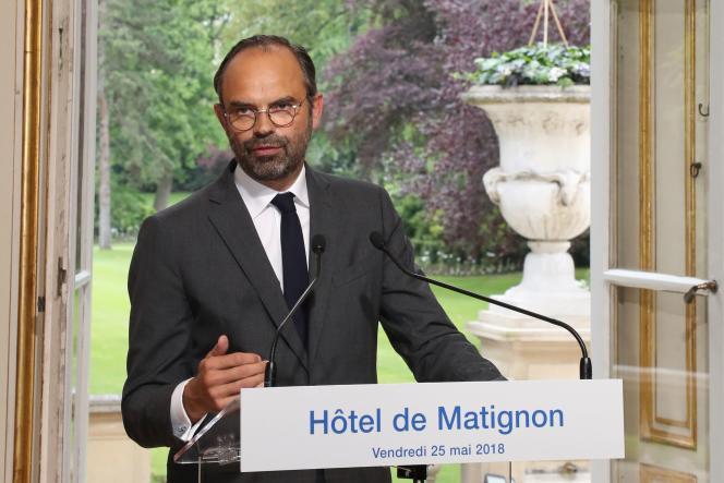 Edouard Philippe, à l'Hôtel Matignon, à Paris, le vendredi 25 mai.