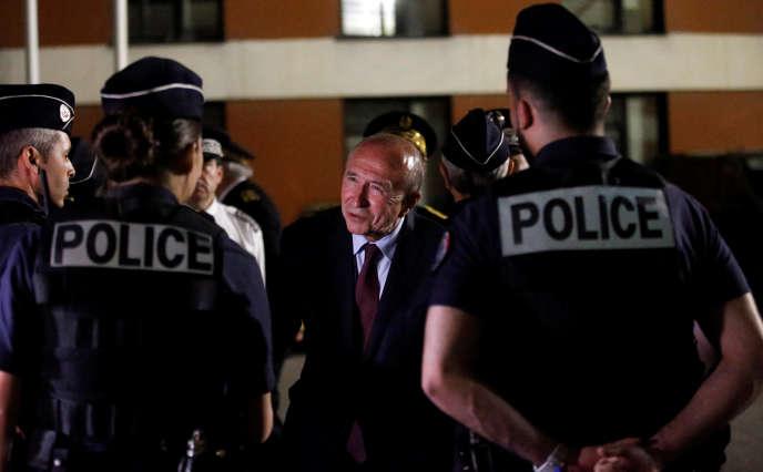 Gérard Collomb, ministre de l'intérieur, à Marseille, le 24 mai.