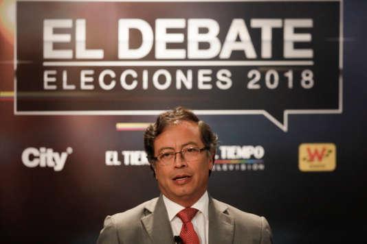 Gustavo Petro lors d'un débat entre les candidats le 24 mai à Bogota.