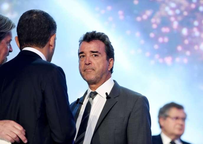 Arnaud Lagardère, lors de l'assemblée générale du groupe, le 3mai, à Paris.