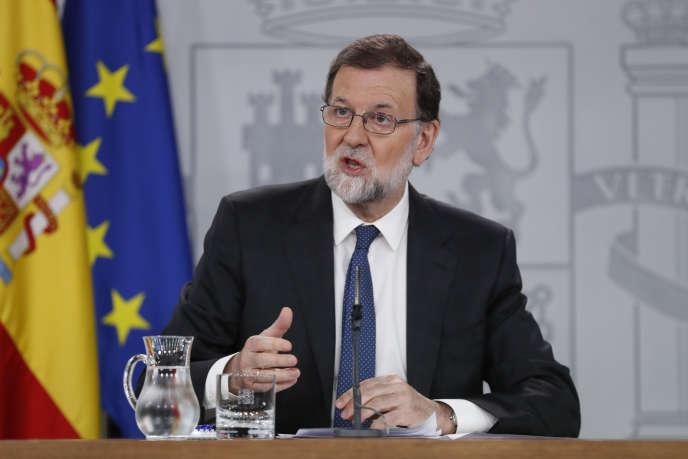 Mariano Rajoy, le chef du gouvernement espagnol, à Madrid, le 25 mai 2018.