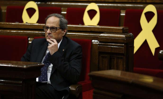 Le président indépendantiste catalan Quim Torra, le 25 mai à Barcelone.