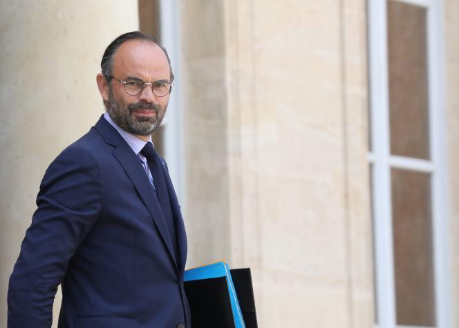 Le premier ministre Edouard Philippe, quittant le palais de l'Elysée, le 23 mai.