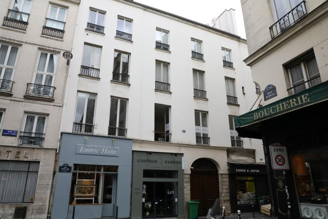 L'entrée du bâtiment où sont situés les bureaux de la République en marche, rue Sainte-Anne, dans le 2earrondissement de Paris.