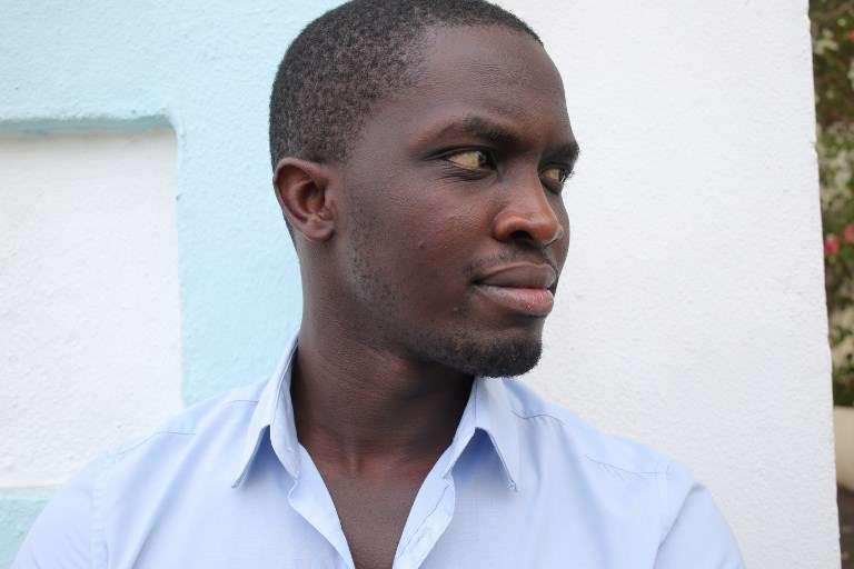L'écrivain sénégalais Mohamed Mbougar Sarr, à Saint-Denis de La Réunion, en novembre 2015.
