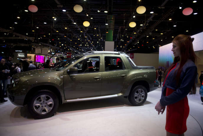 Le pick-up Duster Oroch de Renault, présenté au Salon de Buenos Aires, en Argentine, en juin 2015.