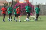 Des joueurs de l'équipe de football du Sénégal à l'entraînement à Saly, le 22 mai 2018.