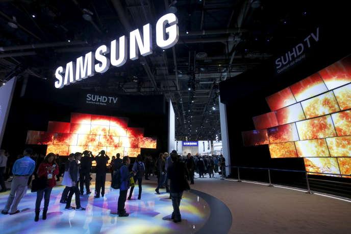 Le stand Samsung au Salon CES de Las Vegas, aux Etats-Unis, en janvier 2016.