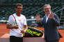 Rafael Nadal et Eric Babolat, PDG de l'entreprise familiale, le 11 juin 2017 à Roland-Garros.