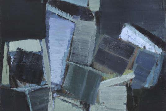 «Grande nature morte» d'Olivier Debré, 1956, huile sur toile, 192 x 235 cm, exposée à la Galerie Louis Carré & Cie, qui participe au Paris Gallery Weekend.