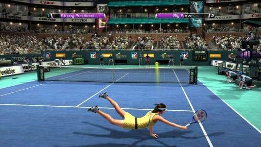 Dans la série« Virtua Tennis», les nombreux plongeons sont un moyen bien commode pour réduire la distance entre la raquette et la balle.