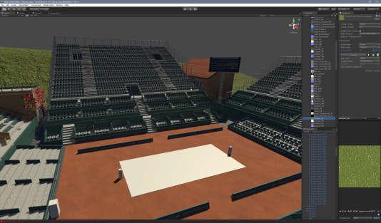Côté matrice, la série « Tennis Elbow» oppose deux caisses 3D, remplacées à l'écran par des tennismen animés.
