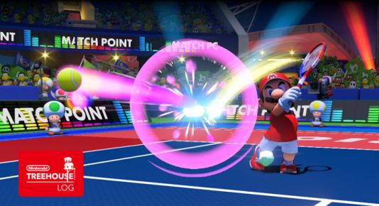Avantage de la série« Mario Tennis» : personne n'attend de Mario que ses gestes soient exactement ceux d'un tennisman professionnel.