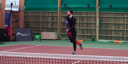Grâce à la motion capture,« Tennis World Tour» peut retranscrire les mouvements réels d'un joueur, enregistré en action.